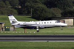 Air Pink Cessna Citation 560XL at Manchester Airport MAN/EGCC (dan89876) Tags: air pink private jet cessna 560xl citation excel xls yupmk manchester international airport landing runway arrival man egcc 23r