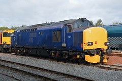"""HNRC Unbranded Blue Class 37/6, 37612 (37190 """"Dalzell"""") Tags: drs directrailservices unbrandedblue hnrc harryneedlerailroadcompany rebuild ee englishelectric eps europeanpassengerservices type3 growler tractor class37 class376 37612 37691 37179 d6879 dieselgala gcrn greatcentralrailwaynorth ruddington"""