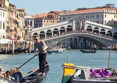 Rialto Bridge in Venice (Len Radin) Tags: rialto bridge grandcanal venice