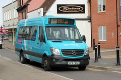 Breadvan for Crew Transfer . (AndrewHA's) Tags: hertfordshire bishopsstortford bus minibus mercedes benz city sprinter 45 1010 bf67wge sorry not in service crew transfer