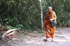 On The Road To Ta Prohm (Anne Marie Clarke) Tags: buddhist monk cambodia siemreap angkor taprohm jungle khmer