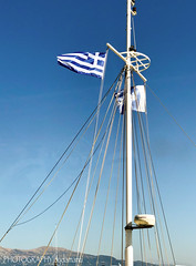 MAST WITH GREEK FLAG (PHOTOGRAPHY|bydamanti) Tags: corfu ionianislands greece flag mast greekflag iphonex