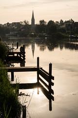 Morning mood (genf) Tags: amstel amsteldijk water reflection weerspiegeling ouderkerk church kerk morning ochtend sun zon sony a99ii sigma 24105 mood sfeer outdoor buiten