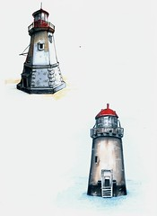 ligthouse (michailovaster) Tags: graphic ligthouse handdrawing white copicmarker copic minuature drawing decorate poster postcard маяк рисунок маркеры копик графика миниатюра farol