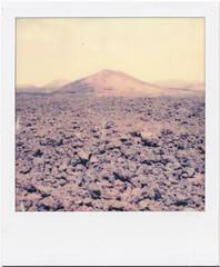 Lanzarote XII (Ulla M.) Tags: polaroid polaroidoriginals pola lanzarote atlantik welle wave strand beach analog analogue analogphotography instantfilm instant sofortbild umphotoart lava vulkan