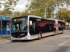 NLD Qbuzz 3451 - 12 ● Emmen Busstation (Roderik-D) Tags: dieselbus 3451 qlink12 qlinkred 13bhp2 qbuzz34483462 2016 euro6 mercedesbenz citaro3 o530g isri geledebus articulatedbus gelenkbus qlink ticketmachine cruisecontrol 3axle 3doors lijnbus linienbus