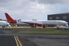 G-VYOU Airbus A.340-600, Bournemouth/Hurn, 28/9/2019. (hjcurtisuk) Tags: gvyou eghh hurn a340