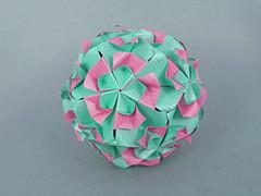 Orama var 1 (masha_losk) Tags: kusudama кусудама origamiwork origamiart foliage origami paper paperfolding modularorigami unitorigami модульноеоригами оригами бумага folded symmetry design handmade art