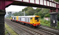 20132 and 20118 at Longport (robmcrorie) Tags: 20118 20132 longport stoke staffordshire esso pinnox sidings land recovery spoil crewe nikon d850 footbridge