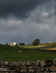 Greenhills Farm Harwood Upper Teesdale in Dramatic Light 2 (Richard Laidler) Tags: aonb agriculture areaofoutstandingnaturalbeauty buildings countydurham darkclouds darksky dramaticlight earlyautumn farm farmhouse farming globalgeopark harwood hillfarm moody northeastengland northpenninesaonb pennine stormysky sunshine teesdale teesdalelandscape upper upperteesdale white whitewashed