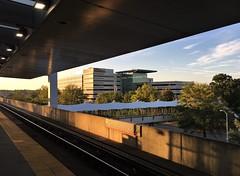 HSoS ~ Framed (karma (Karen)) Tags: baltimore maryland metrostation morninglight bridges tracks shadows buildings trees iphone smileonsaturday hss framed topf25