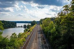 Time to go (SusieMSB7) Tags: train tracks landscape outdoors