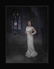 Bride of Frankenstein (Chris Tidman Photography) Tags: comic con cardiff 2019 bride frankenstein tintern abbey birds moon moody