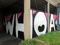 Have A Word by Kid Acne, Sheffield 2019 (Dave_Johnson) Tags: woah kidacne artist art publicart graffiti streetart sheffieldstreetart typography lyrics gallery exhibition haveaword picture painting paint s1 s1artspace parkhill sheffield yorkshire southyorkshire mural