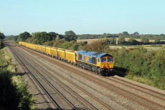 66753 Cossington (CD Sansome) Tags: cossington mml midland main line train trains 66 66753 shed gbrf gb railfreight 6m23 doncaster up decoy mountsorrel