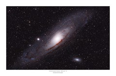 Messier 31, The Andromeda Galaxy (Myrialejean) Tags: messier31 m31 andromeda galaxy astrophotography astronomy space sky night celestron skywatcher canon pixinsight