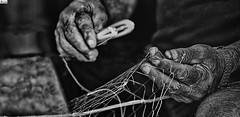 Manos de pescador- Fisherman's hands (In Dulce Jubilo) Tags: blanco negro black white banconegro manos hands pescador fisherman bw creatividad fotografía photography escena scene creative manual huelva andalucia andalusia espagne españa spanien spain