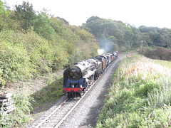 IMG_6690 (JI60009) Tags: northyorkshiremoorsrailway nymr autumn steam gala uk 9f 92134 single chimney red livery s160 2253