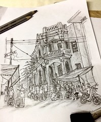 Old Dhaka #01 (zerin0404) Tags: bangladesh drawings pencil graphite olddhaka architecture heritage
