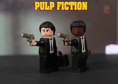 Custom LEGO Pulp Fiction Minifigures (LegoMatic9) Tags: custom lego pulp fiction minifigures figures vincent vega jules winnfield