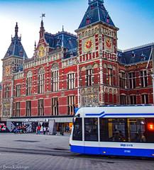Amsterdam Centraal Station (Brian Katzberger) Tags: amsterdam amsterdamnetherlands amsterdamthenetherlands amsterdamcentraal amsterdamcentraalstation trainstation trainstationsofeurope publictransit nederlansespoorwegen gvb gvbtram gvbamsterdam nsrail nsrailways