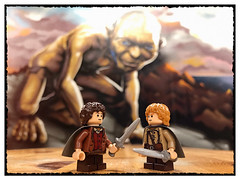 'Better be careful, he might be around here...' (hd_lego) Tags: smeagol facts gollum samwise lordoftherings afol toys toyphotography minifigures lego frodo llotr