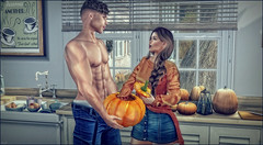 *Erm babe? This doesn't feel like pumpkin squash?* ❤️ (Ⓐⓝⓖⓔⓛ (Angeleyes Roxley)) Tags: pumpkin spicy foxcity couple bento naughty fun sl secondlife mainstore