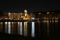Portofino Bay Hotel, Orlando, FL. (Andy Ziegler) Tags: orlando florida orlandoflorida travel canon6d vacation universalorlando nightshot reflection tripod longexposure lights water