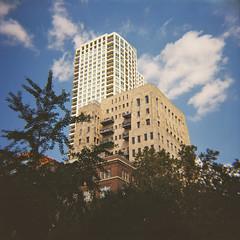 Buildings Near Washington Square (Tom Ipri) Tags: filmphotography mediumformat dianaf philadelphia filmisnotdead shotonfilm philly 120film