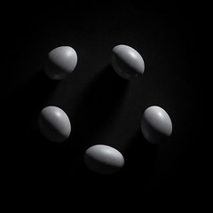 Project Sunday Week 39 Shoot an Egg (JamesF1960) Tags: shootanegg week39 projectsunday blackandwhite bw eggs shadowlight circleofeggs