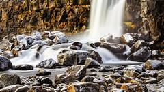 Oxararfoss (PokemonaDeChroma) Tags: oxararfoss almannagja waterfall thingvellir nationalpark cold icy rocks stream iceland longexposure poselongue cascade island islande canoneos6d 24105 rochers