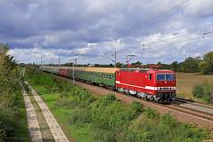 243 005-6 DB Museum (Zugbild) Tags: bahn zug eisenbahn train rail br243 br143 lady lew schnellzug dr deutsche reichsbahn bw halle p kyhna bordeauxrot