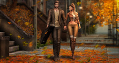 Tunes of Autumn love (meriluu17) Tags: autumn fall warmth amitie tetra walk couple love guitar case leaves orange light tune them people relationship friends inlove annie jolifaunt