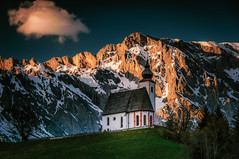 Lonely church (gregor158) Tags: landscape austria österreich snow mountains mountain trees tree cloud church dienten hochkönig salzburg sunset winter