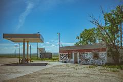Abandoned Desert Gas Station (IAmTheSoundman) Tags: jakebarshick sony a99 takumar vintagelens manualfocus abandoned desert road trip roadtrip urbanexploring urbex