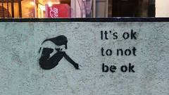 it's ok , to not be ok (I m Peace) Tags: walk streetphotography person remember sooc nofilter graffiti stencil