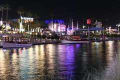 Universal CityWalk, Orlando, FL. (Andy Ziegler) Tags: orlando florida orlandoflorida travel canon6d vacation universalorlando nightshot longexposure tripod reflection citywalk 50mm destination