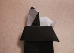 Snoopy on doghouse (Juan Francisco Carrillo) (Matt Origami) Tags: origami kami snoopyondoghouse juanfranciscocarrillo carillo snoopy