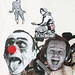 Pasted paper by Mimi The Clown, Ouroboros, Zacharie Bodson [Paris 3e]