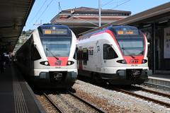 2019-08-14, CFF/TILO, Lugano (Fototak) Tags: treno eisenbahn sbbcffffs tilo railway train flirt stadler ticino switzerland sbahn rer s10 rabe524 524201 524116