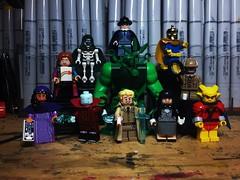 Bumps in The Night (Doctor Allo) Tags: lego justice league dark phantom stranger doctor fate spectre detective chimp rac shade changing man swamp thing madame xanadu constantine john zatanna etrigan demon deadman