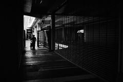 出 路 (Wilson Au | 一期一会) Tags: hongkong kwuntong blackandwhite monochrome silhouette fujifilm xt3 manualfocus 7artisans25mmf18 dof depthoffield man backlight 香港