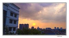 clouds over the city at sunset (harrypwt) Tags: harrypwt smartphone huaweip20pro p20pro bandung indonesia city borders framed