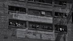 the shadows of the broken.jpg (remiklitsch) Tags: windows panes shadows industrial black white blanconoir montreal remiklitsch nikon urban city decay