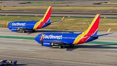 N784SW and N952WN Boeing 737-7H4 Southwest (SamCom) Tags: kdal lovefield dal n784sw n952wn boeing 7377h4 b737 southwest
