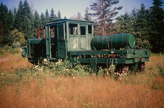 00091_s_18anq7p4le0091 (Charles L. Sommers Alumni Association) Tags: transportation train vehicle plant tree machine locomotive forest land grove vegetation nature outdoors woodland rail railway traintrack boyscoutsofamerica mainenationalhighadventurearea mainenationalhighadventure maine highadventure mnhaa miscprogramhowlandpatches misc program howland patches mainehighadventure
