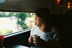 MM5-043-20 (David Swift Photography) Tags: davidswiftphotography portraits portraitsofwomen filmportraits film diners coffee windows restaurants kodakektar100 nikonfm2
