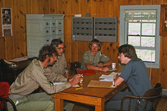 00700_s_18anq7p4le0700 (Charles L. Sommers Alumni Association) Tags: person human sitting wood furniture plywood chair flooring hardwood boyscoutsofamerica mainenationalhighadventurearea mainenationalhighadventure maine highadventure mnhaa crewissueorientation crew issue orientation mainehighadventure