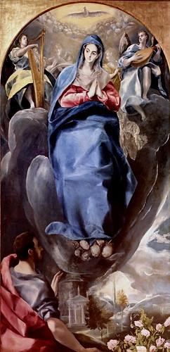IMG_8570 Domínikos Theotokópoulos, dit Le Greco 1541-1614 Tolède. La Vision de Saint Jean à Patmos The Vision of St. John in Patmos Museo Santa Cruz  Toledo Signé  Sign