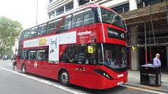 P1180182 BDE2631 LJ19 CVE at Moorgate Station Finsbury Pavement Moorgate London (LJ61 GXN (was LK60 HPJ)) Tags: metroline byd enviro400city enviro400evcity enviro400ev e400ev electric 109m 10900mm bde2631 lj19cve j4286